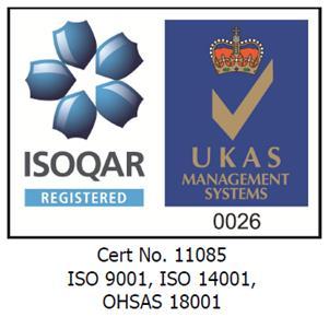 Award - UKAS BS EN 9001:2008; BS EN 14001:2004; BS EN 18001:2007.